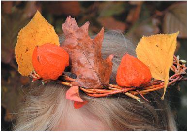 Őszi játékok gyerekeknek: Falevélből korona készítés