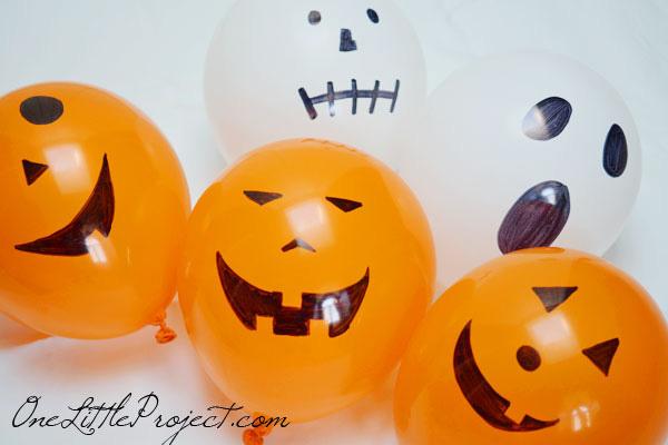 Halloween tök készítése lufiból