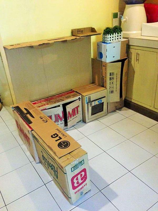 Kartondobozból babakonyha házilag: így készítsd el lépésről lépésre! Fotós útmutató