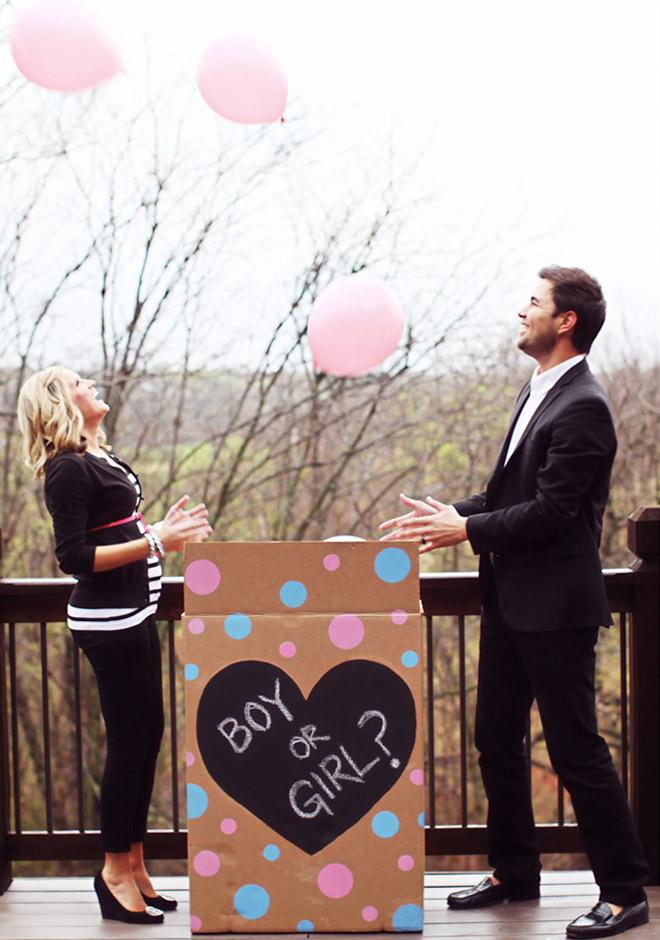 Kislányod születik vagy kisfiad? 13 aranyos fotós ötlet, hogyan jelentsd be a baba nemét a rokonságnak