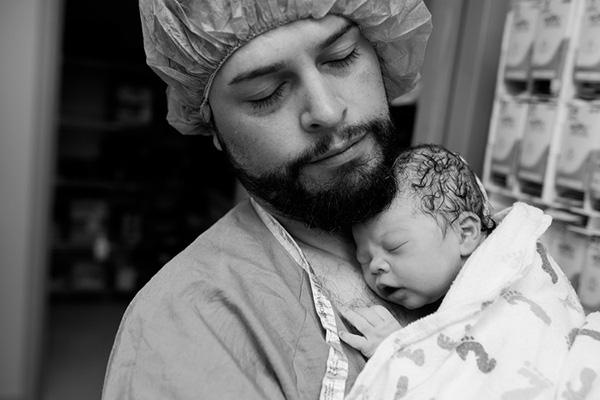 szülésfotók - apa
