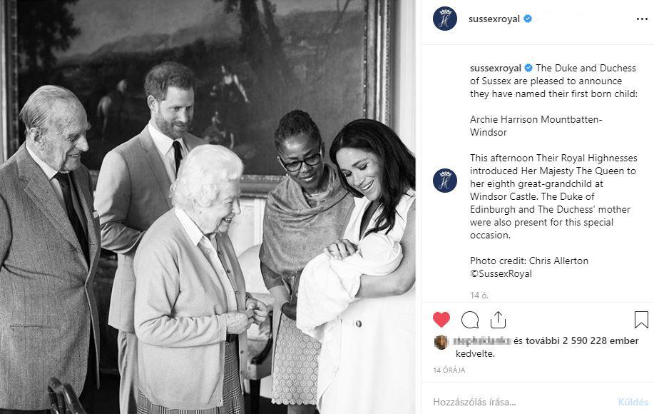 Fotó: A királynő széles mosollyal üdvözölte Harry és Meghan kisfiát - Sőt, a pici nevét is elárulták a boldog szülők!