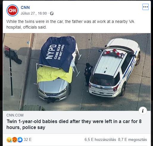 Egyéves ikrek haltak meg a forró autóban, mert az apjuk elfelejtette kitenni őket a bölcsődében munka előtt