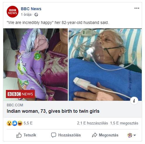 Nem mindennapi szüléstörténet: 73 évesen ikreknek adott életet egy asszony! - Most sikerült először teherbe esnie
