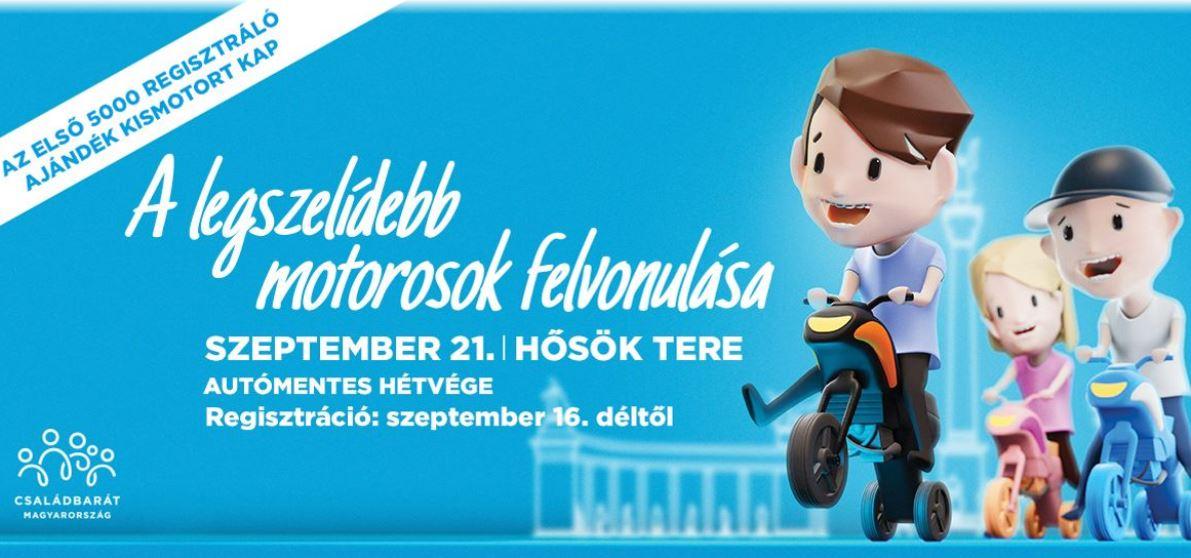 Játékmotoros felvonulás lesz Budapesten gyerekeknek - Regisztrálj most, és kapsz egy kismotort ajándékba!