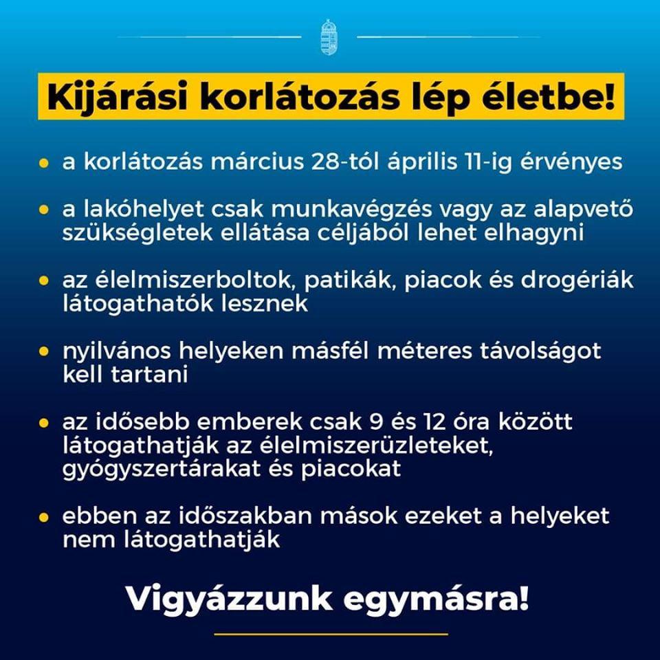 Koronavírus-járvány: Kijárási korlátozás lép életbe március 28-tól - Orbán Viktor jelentette be ma regel