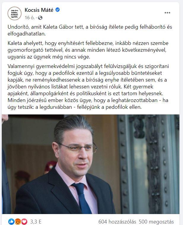 Gulyás Gergely: A Kaleta-ügy a lehető legszigorúbb ítéletért kiált - Szigorítana a gyermekvédelmi jogszabályokon a kormány