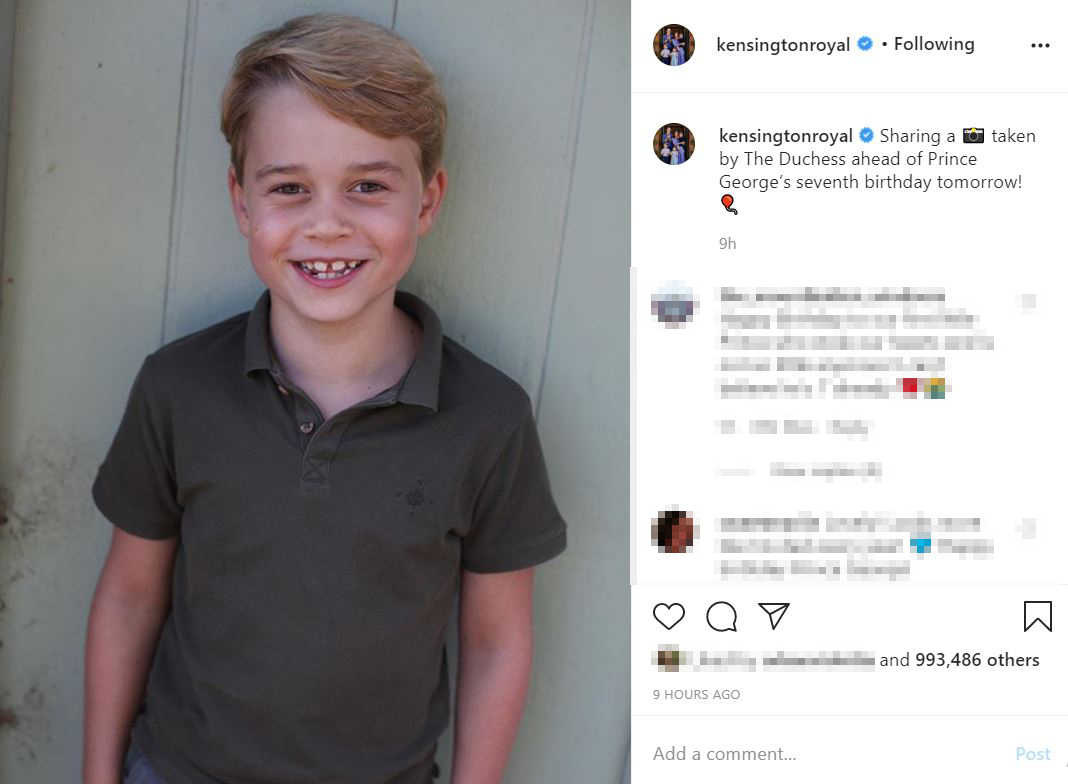 Fotók: 7 éves lett György herceg! - Katalin és Vilmos legnagyobb gyermeke egyre jobban hasonlít az apukájára