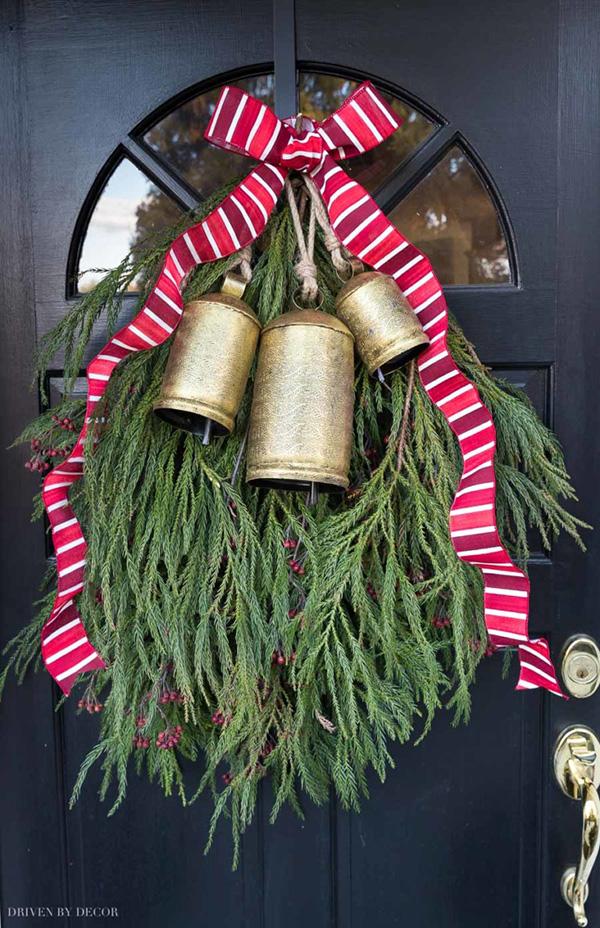 karácsonyi ajtódísz, kopogtató