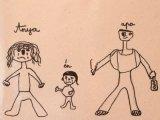 Bántalmazott gyermekek megrázó családrajzai