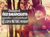 Őszi bakancslista családoknak 2017! 40 szuper ingyenes program Budapesten, ahova vidd el idén ősszel a gyereket
