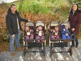 Tündéri fotók készültek a debreceni négyes ikrekről! Most lett 1 éves a kis Flóra, Jázmin, Boglárka és István