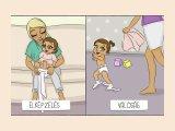 Elképzelés kontra valóság: 9 rajz, amit akkor értesz meg igazán, ha kisgyerekes szülő vagy