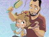Egyedül neveli kislányát az apuka - Tündéri rajzokon örökíti meg a közös életüket