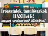 Íróasztal, tanulósarok házilag! 10 szuper ötlet a gyerekszobába, amit könnyedén megvalósíthatsz - Sok tárolóval