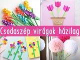 Csodaszép, saját készítésű virágok anyák napjára: Ezzel lepje meg a gyerek az anyukáját, nagymamáját - 9 ötlet
