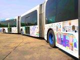 Ilyen cuki buszt még nem láttál! - Játszóbusszá alakított át egy duplacsuklós buszt a BKV a gyerekeknek