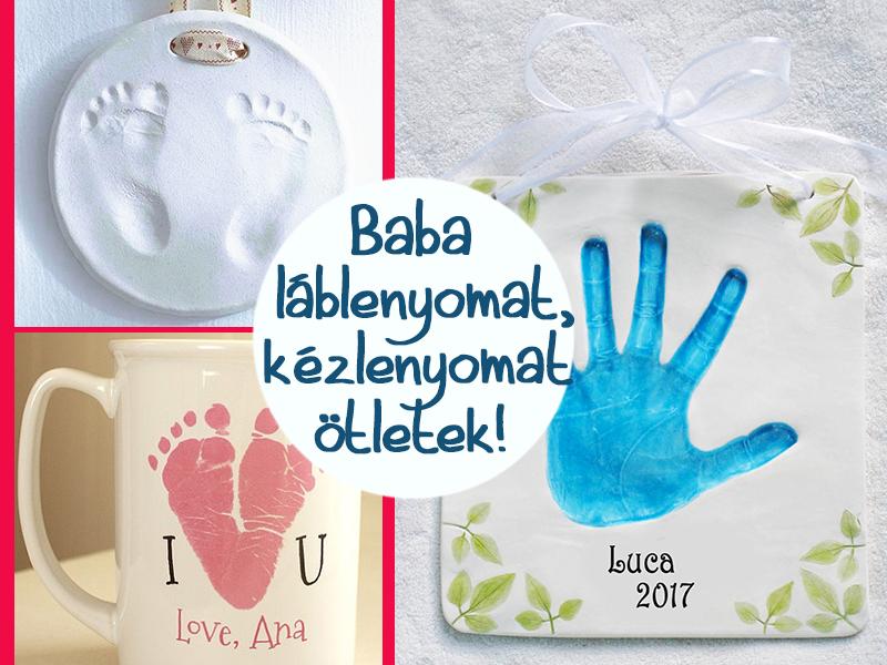 Baba láblenyomat, kézlenyomat készítése házilag: egyedi ajándékötlet a nagyszülőknek, családtagoknak
