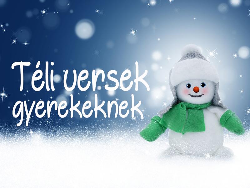 5 téli vers gyerekeknek - hóemberről, szánkóról, hóesésről