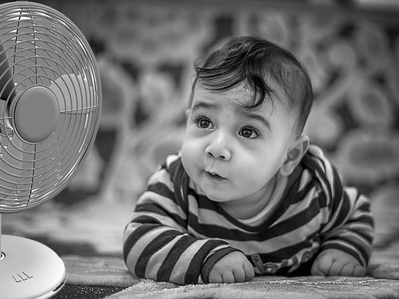 Kánikula babával, kisgyerekkel - Erre nagyon figyelj, ha használsz légkondit vagy ventilátort a gyermeked mellett!