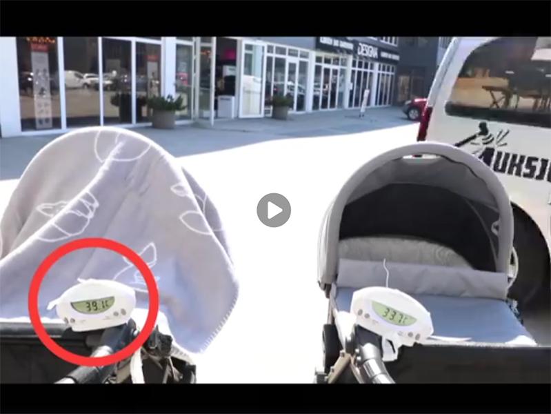 Ezért ne takard le a hőségben a babakocsit, bele is halhat a kisbabád! - Nézd meg, mi történik ilyenkor a babakocsiban
