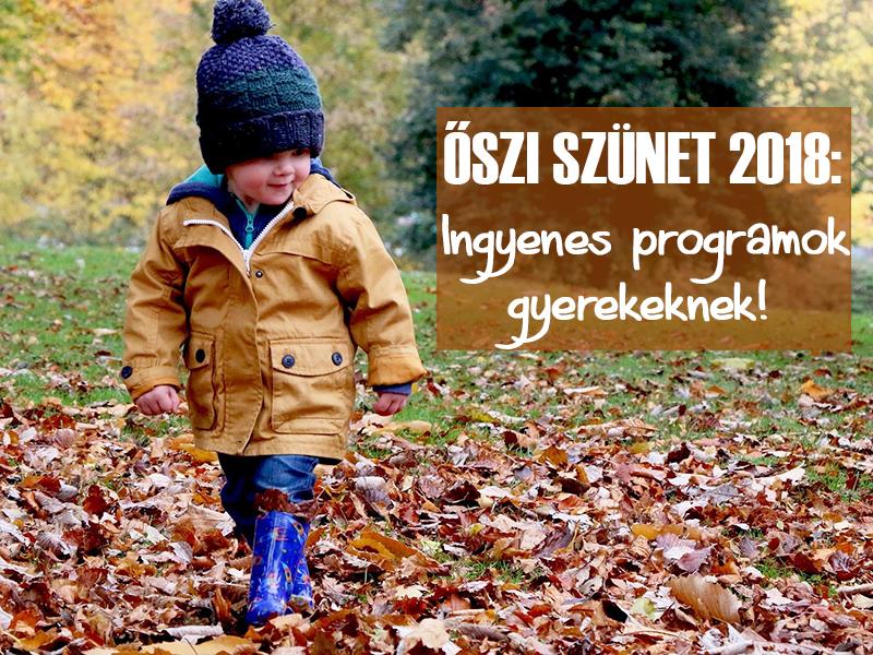 Őszi szünet 2018: 17 szuper ingyenes program az őszi szünetre, amit imádni fog a gyerek - Használjátok ki a jó időt!