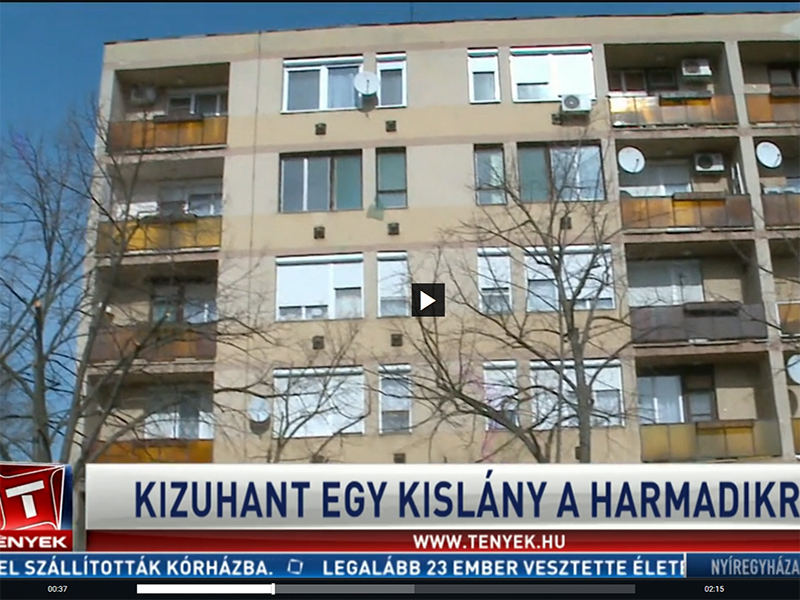 Kizuhant egy 4 éves kislány a harmadik emeletről Mezőtúron! - Az anyja hagyta magára, amíg elment vásárolni