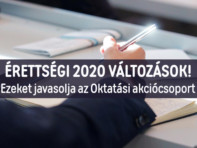 Érettségi 2020 változások: Elmaradnának a szóbeli érettségi vizsgák, vissza lehet lépni az érettségitől - Az Oktatási akciócsoport javaslatai